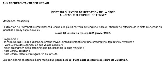 Philippe Roy Attach De Presse 25 Janvier 2007